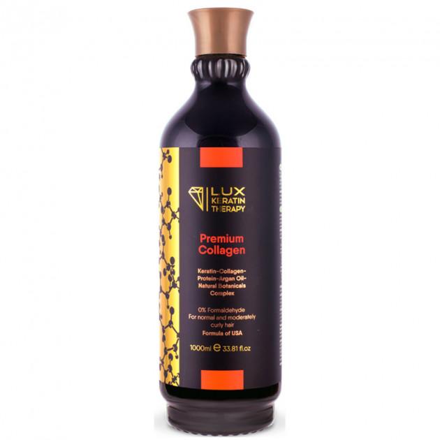 Кератин для выпрямления волос 1000 мл PremiumCollagen, LuxKeratinTherapy