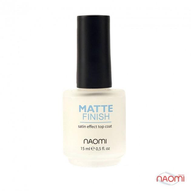 """Средство по уходу за ногтями """"Матовый финиш"""" 15 мл, Naomi"""