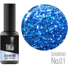 Гель-лак №01 8 мл, Beauty House Diamond Gel Polish