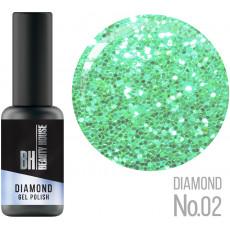 Гель-лак №02 8 мл, Beauty House Diamond Gel Polish