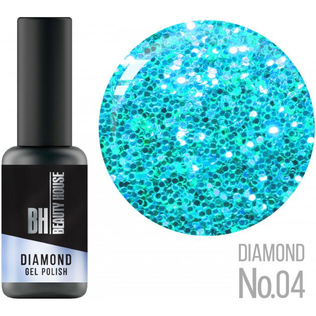 Гель-лак №04 8 мл, Beauty House Diamond Gel Polish
