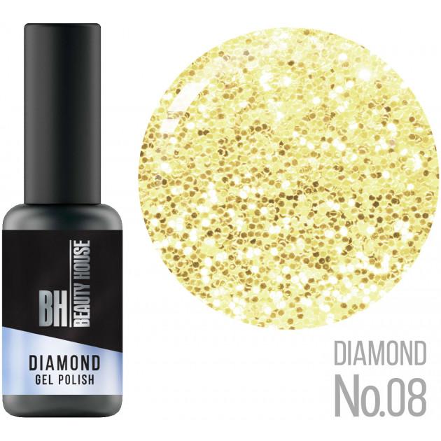 Гель-лак №08 8 мл, Beauty House Diamond Gel Polish