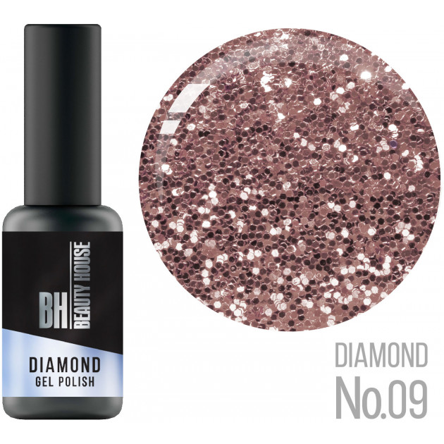 Гель-лак №09 8 мл, Beauty House Diamond Gel Polish