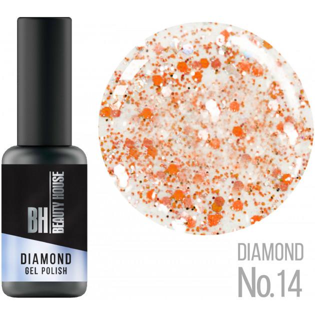 Гель-лак №14 8 мл, Beauty House Diamond Gel Polish