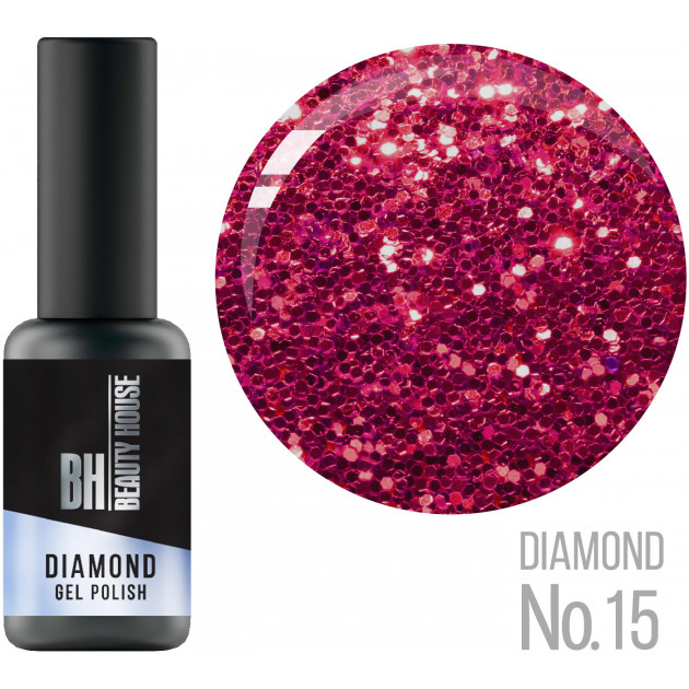 Гель-лак №15 8 мл, Beauty House Diamond Gel Polish