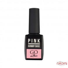 Каучуковая камуфлирующая база розовая №3 10 мл, GO Active GummyBasePinkCamouflage