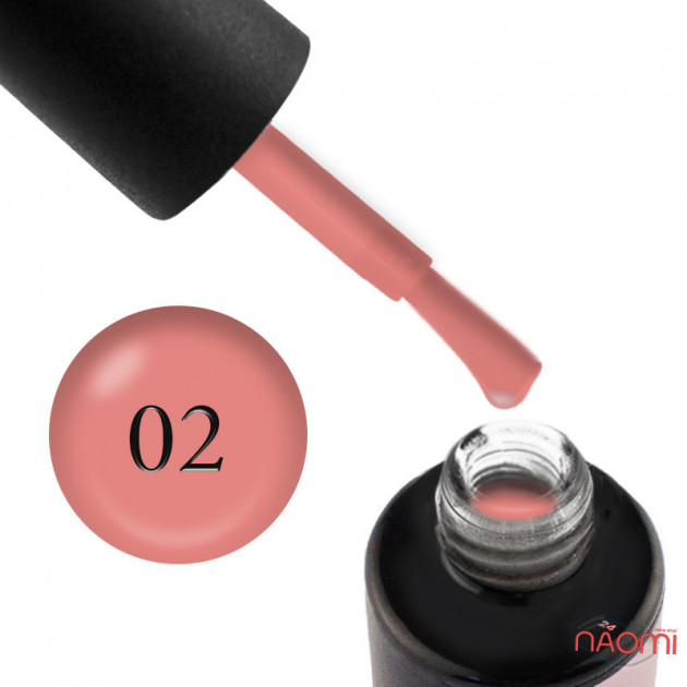 Основа для гель-лака Rubber Comouflage Base Coat №2 6 мл, Naomi