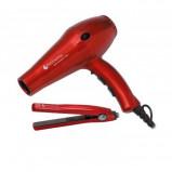 Фен для волос Hairway Ruby Ceramic & Ionic + в подарок щипцы Hairway Ceramic Ruby Iron