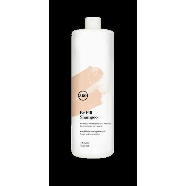 Питательный шампунь для окрашенных волос с кератином 450 мл, 360 Kaaral