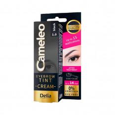 Крем-краска для бровей 1.0 черная Delia Cosmetics Cameleo 15 мл