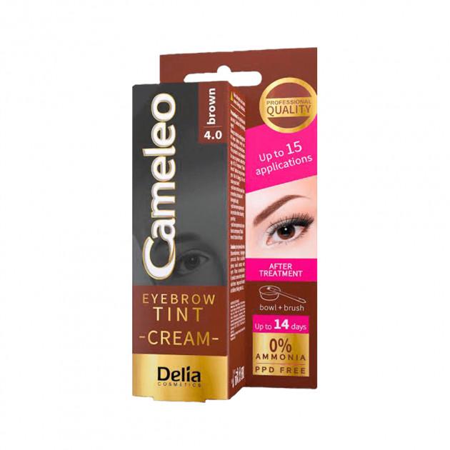 Крем-краска для бровей 4.0 коричневая Delia Cosmetics Cameleo 15 мл