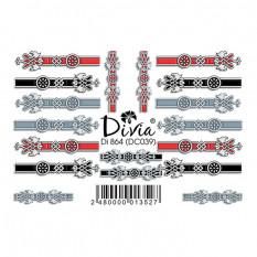 "Наклейки на ногти ""3D"" Di864 [DC039] Divia"