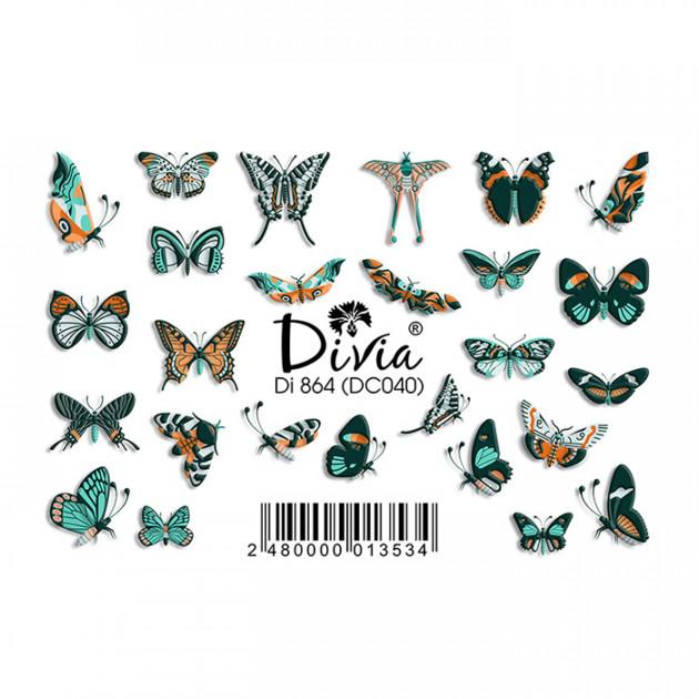 "Наклейки на ногти ""3D"" Di864 [DC040] Divia"