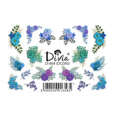 "Наклейки на ногти ""3D"" Di864 [DC043] Divia"