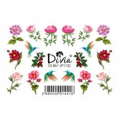 "Наклейки на ногти ""Рельеф"" Di861 [Р112] Divia"