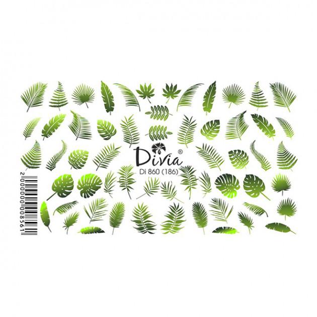"""Наклейки на ногти """"Слайдер"""" Di860 [186] (2205) Divia"""