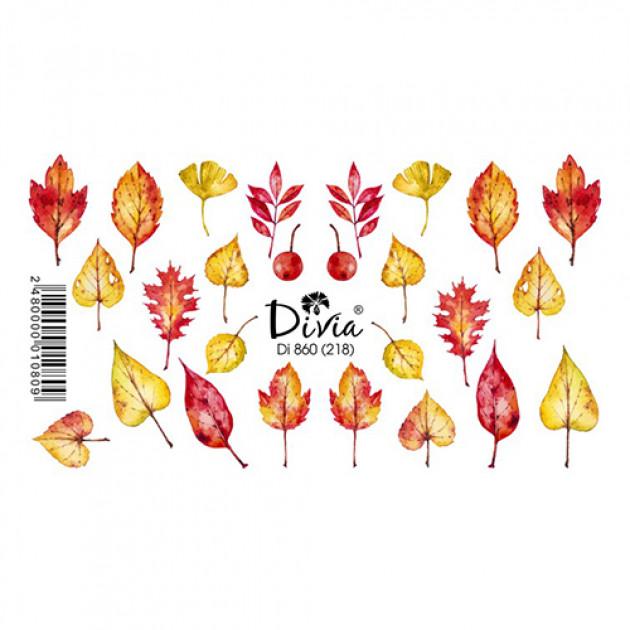 """Наклейки на ногти """"Слайдер"""" Di860 [218] (2717) (осінь) Divia"""