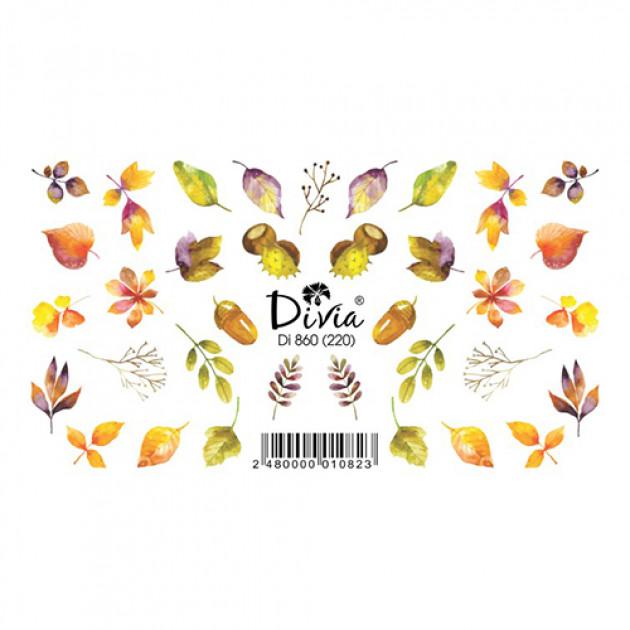"""Наклейки на ногти """"Слайдер"""" Di860 [220] (2714) (осінь) Divia"""