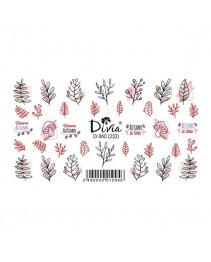 """Наклейки на ногти """"Слайдер"""" Di860 [232] (4174) (осінь) Divia"""