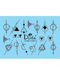"""Наклейки на ногти """"Комби"""" Di862 [С001] Divia"""