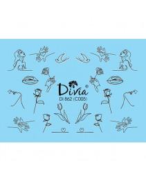 """Наклейки на ногти """"Комби"""" Di862 [С005] Divia"""