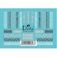 """Наклейки на ногти """"Комби"""" Di862 [С024] Divia"""