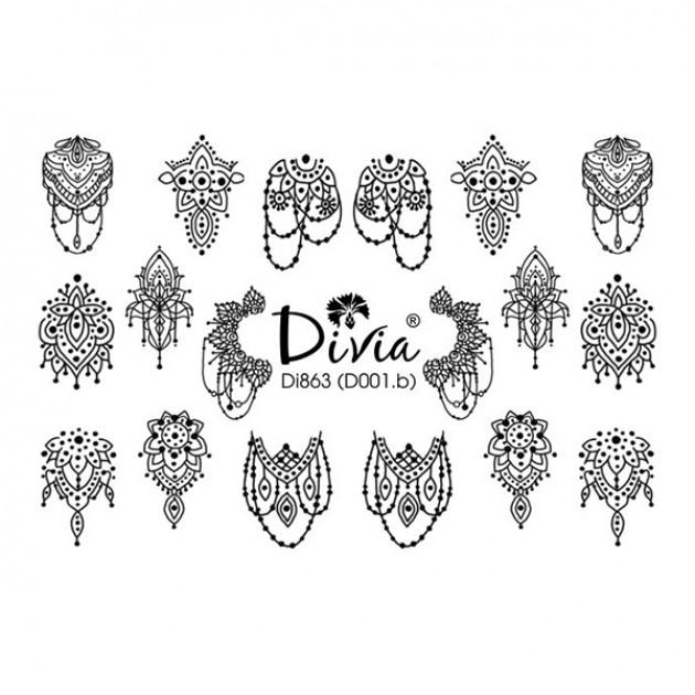 "Наклейки на ногти ""3D"" Di863 [D001.b] Divia"