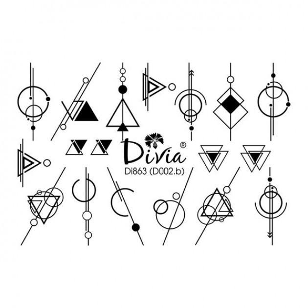 "Наклейки на ногти ""3D"" Di863 [D002.b] Divia"