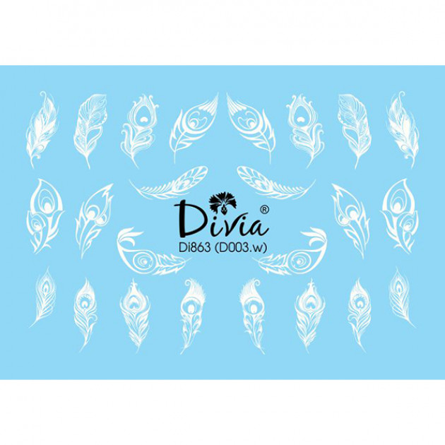 "Наклейки на ногти ""3D"" Di863 [D003.w] Divia"