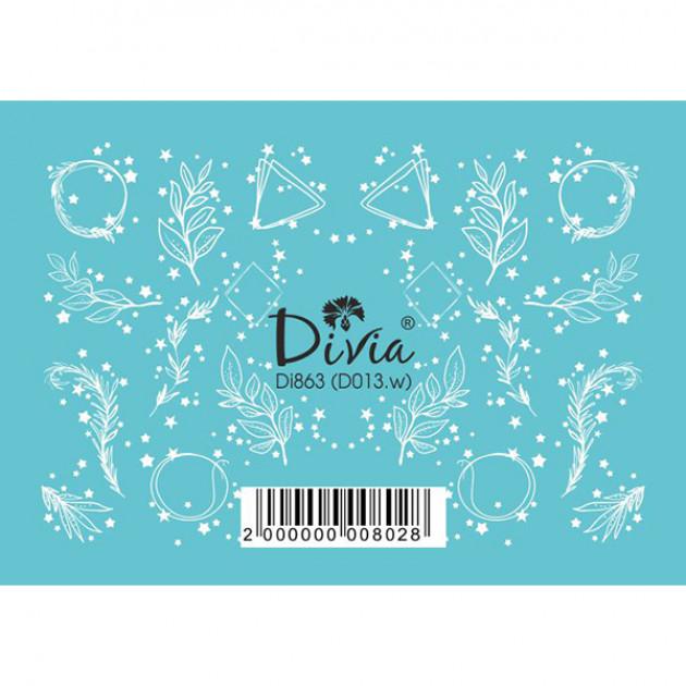 "Наклейки на ногти ""3D"" Di863 [D013.w] Divia"