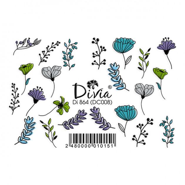 "Наклейки на ногти ""3D"" Di864 [DC008] Divia"