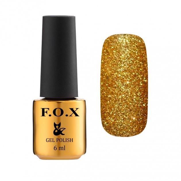 Гель-лак для ногтейgel-polishgoldPigment038,6мл F.O.X