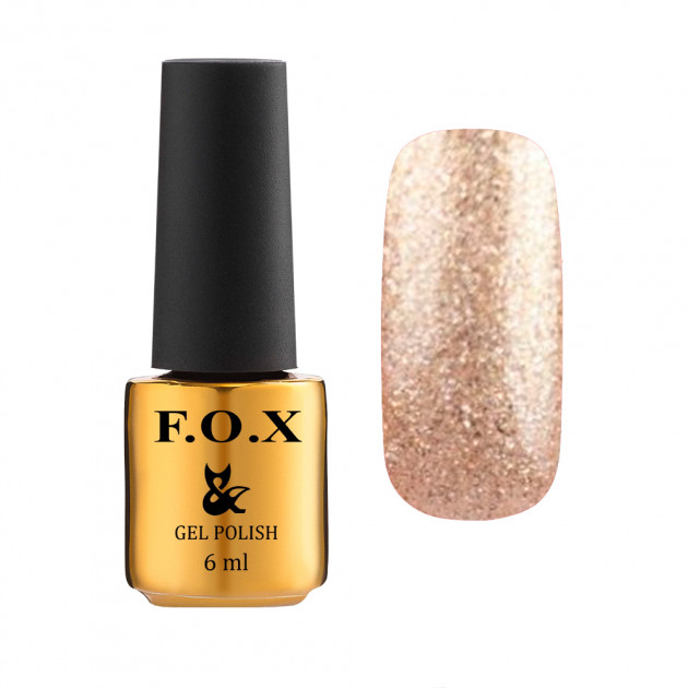 Гель-лак для ногтейgel-polishgoldPigment048,6мл F.O.X
