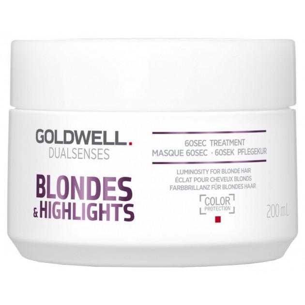 Маска для нейтрализации желтизны Goldwell Dualsenses Blondes Highlights Anti-Yellow 60 Sec Treatment 200 мл