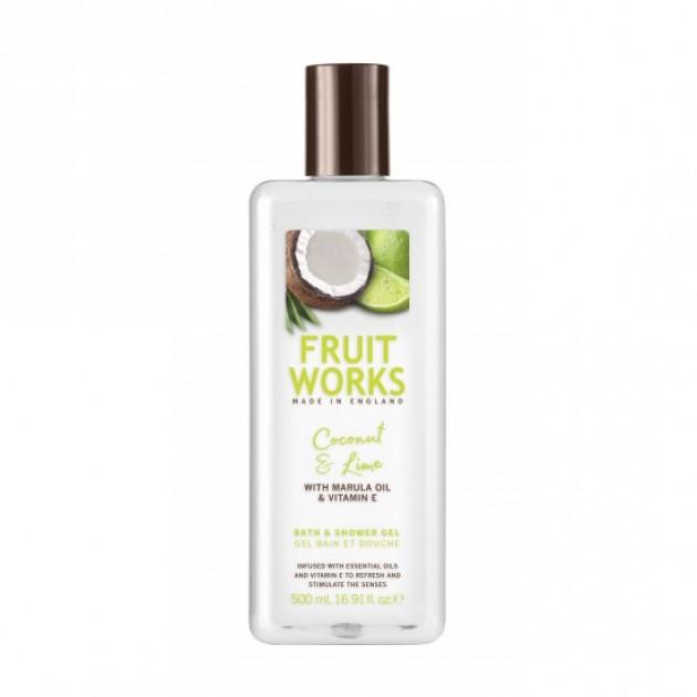 Гель для душа FruitWorksShowerGelCoconut&Lime 500 мл, Grace Cole