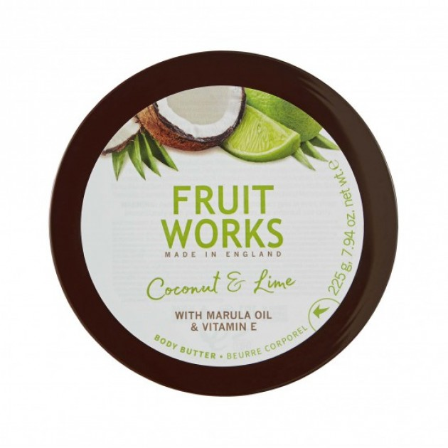 МаслодлятелаFruitWorksBodyButterCoconut&Lime 225 гр, Grace Cole