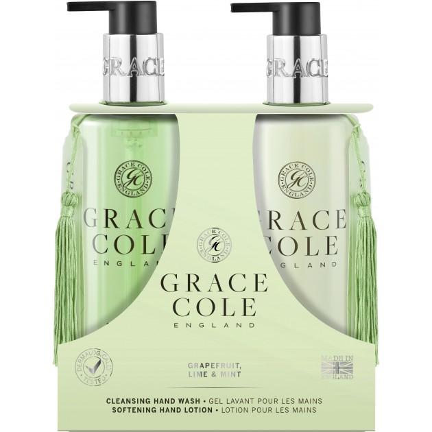 НаборBodyCareDuoGrapefruitLime&Mint (гель для душа 300 мл+лосьон для тела 300 мл), Grace Cole