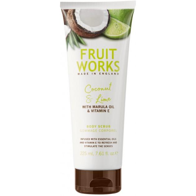 Скраб для тела FruitWorksBodyScrubCoconut&Lime 225 мл, Grace Cole