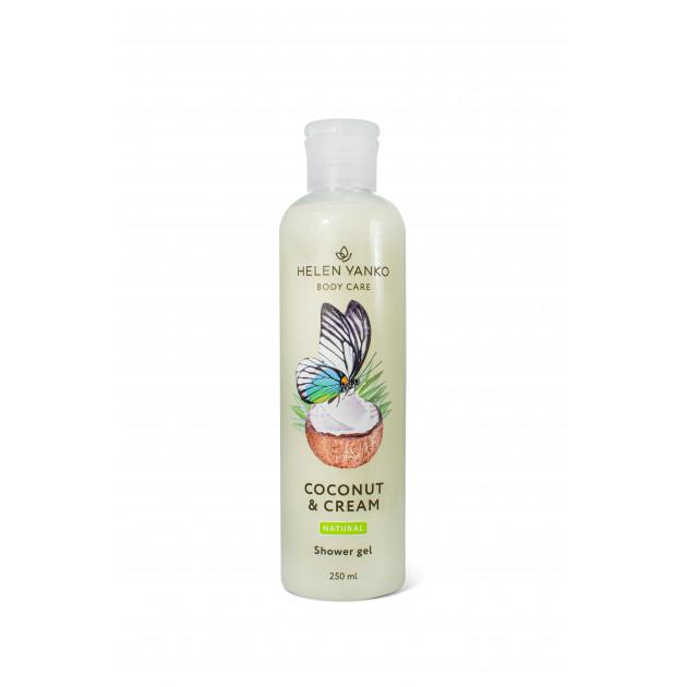 Гель для душа кокос и сливки (безсульфатний) Helen Yanko Shower Gel Coconut Cream 250 мл