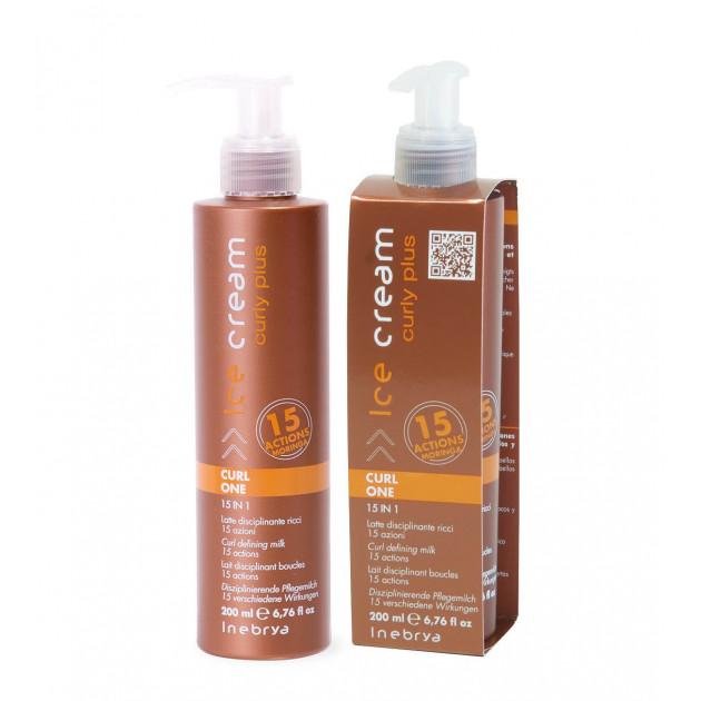 Молочко 15 в 1 для укладки вьющихся волос 200 мл, Inebrya Curl Mask