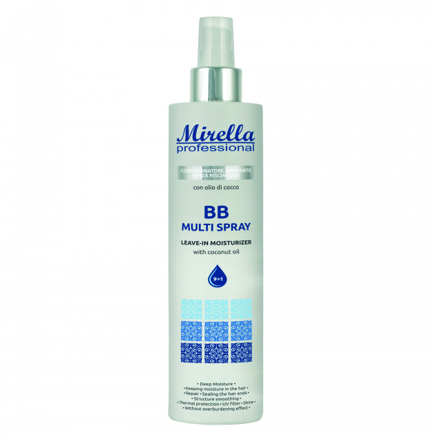 Несмываемое увлажняющее средство для волос 9 в 1 300 мл, Mirella Professional