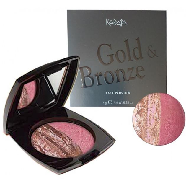 Компактная крем-пудра для лица №34 Karaja Gold Bronze Powder 7 г