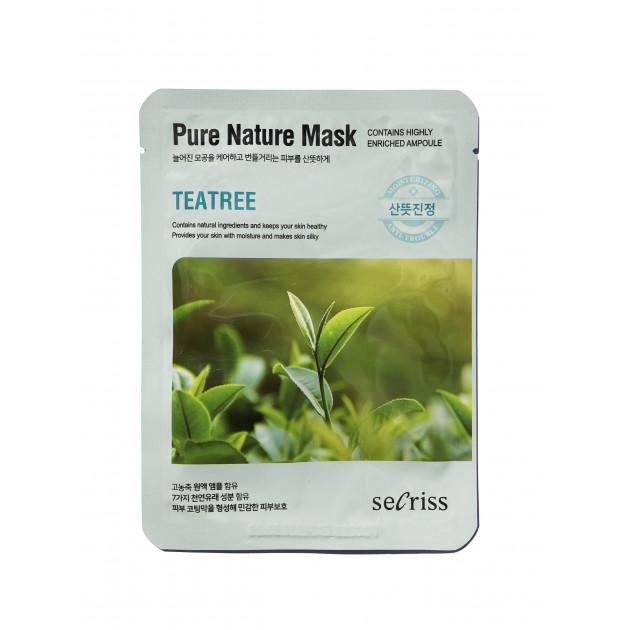Тканевая маска для лица Чайное дерево Secriss Pure Nature Mask Teatree 25 мл