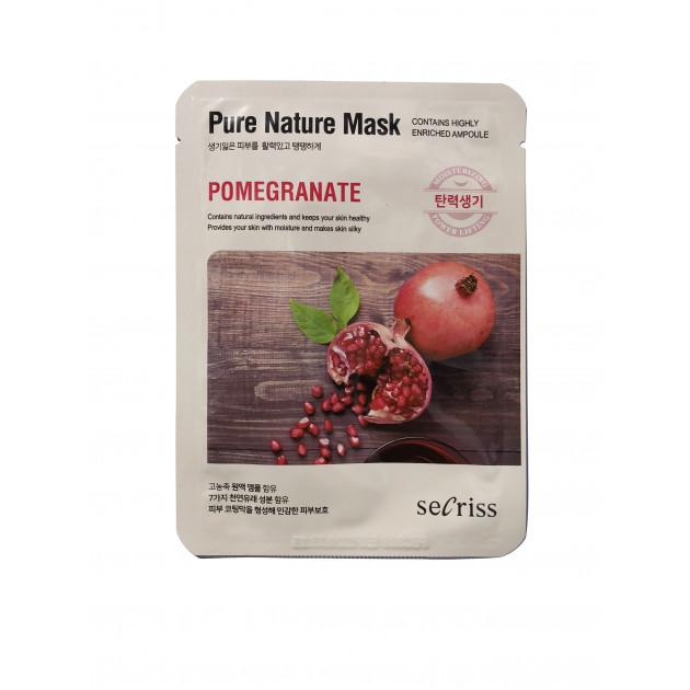 Тканевая маска для лица Гранат Secriss Pure Nature Mask Pomegranate 25 мл
