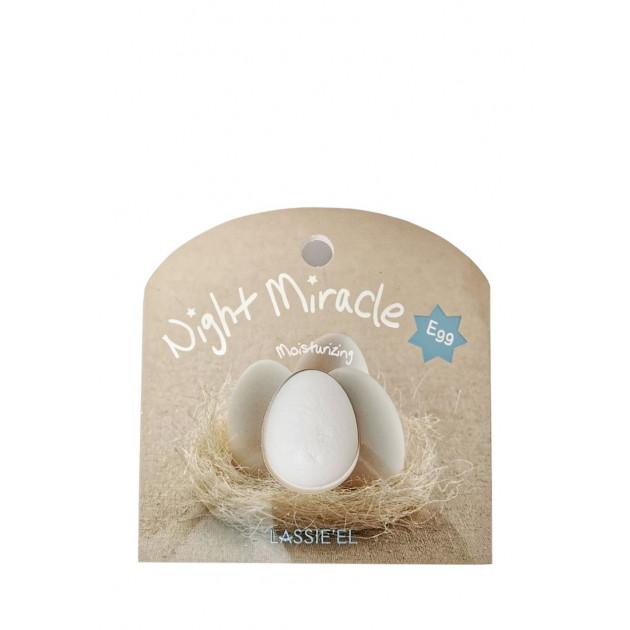 Ночная капсульная маска для лица с с яйцом Lassie'el Night Miracle Egg Sleeping Mask 2 шт