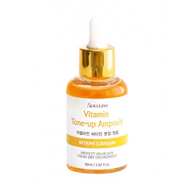 Сыворотка для лица с витаминами эффект сияния Adelline Vitamin Tone-Up Ampoule 80 мл