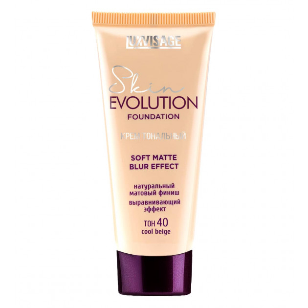 Тональный крем для лица Luxvisage Skin Evolution Soft Foundation Matte Blur Effect 40 cool beige 35 г