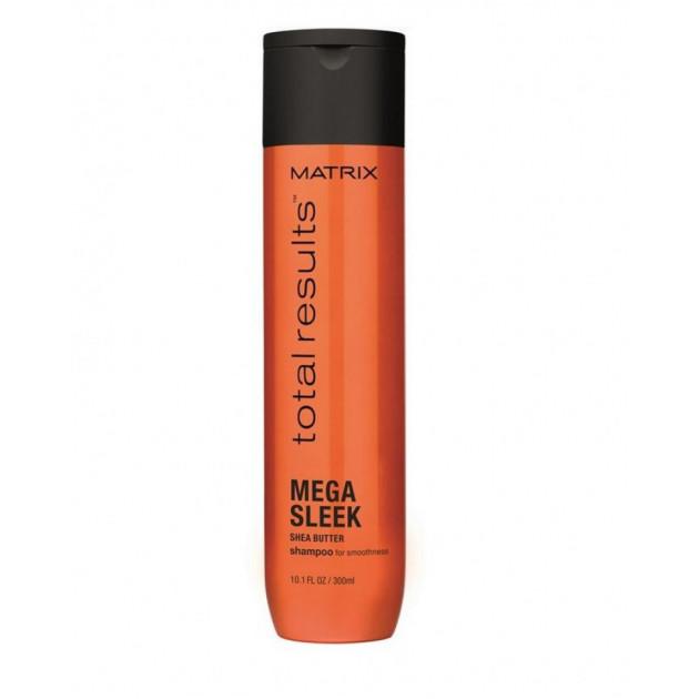Шампунь для гладкости непослушных волос с маслом ши 300 мл, Matrix Total Results Mega Sleek
