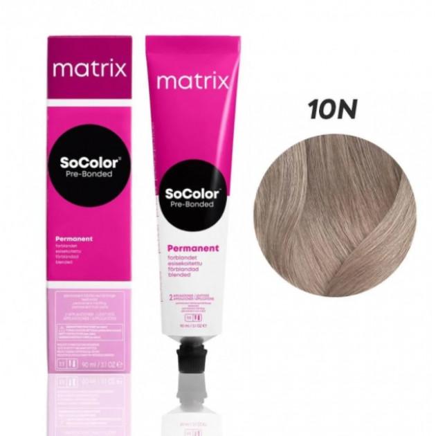 Краска для волос 10N темный шатен Matrix Socolor Beauty Pre-Bonded 90 мл