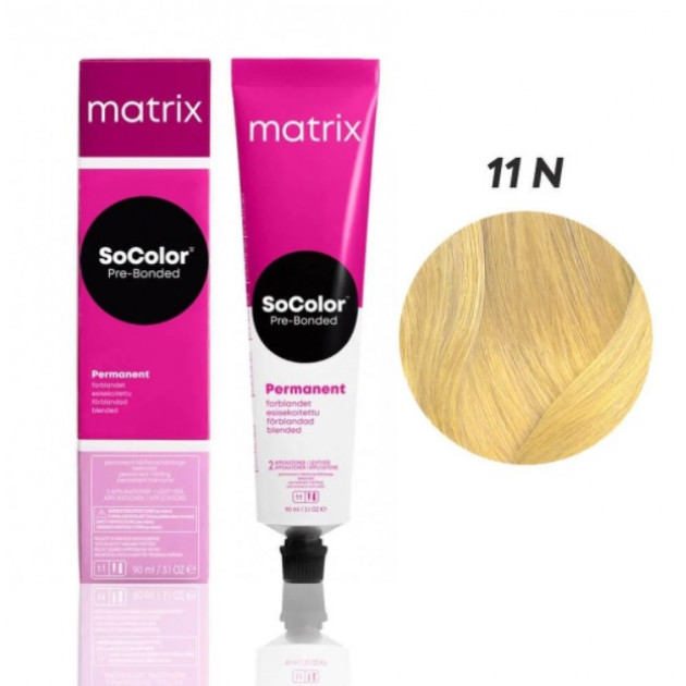 Краска для волос 11N ультра светлый блонд Matrix Socolor Beauty Pre-Bonded 90 мл